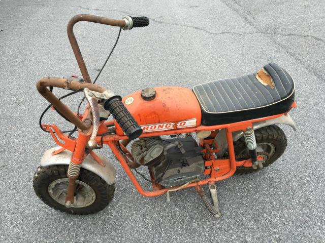 1970 Broncco Tx6 50 Cc Mini Bike Chopper Benelli Fox Rupp