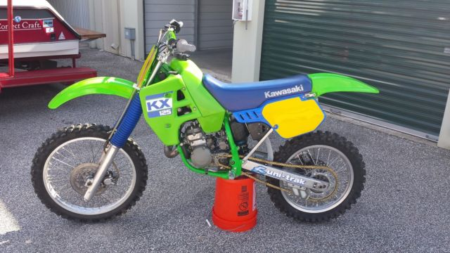1988 kawasaki kx125 kx 125 restored vintage motocross dirt bike mx cr rm yz ktm. Black Bedroom Furniture Sets. Home Design Ideas