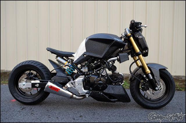 2014 honda grom full custom bobber style for Honda grom mpg
