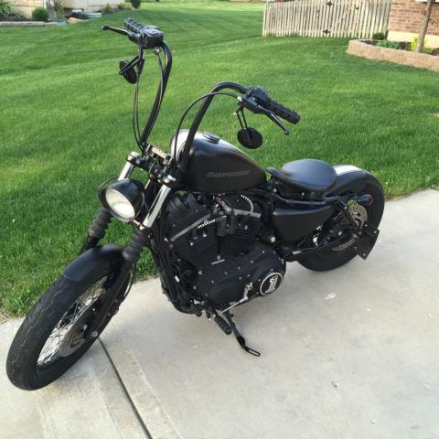 09, Harley Davidson, Iron 883, Custom Bobber Motorcycle
