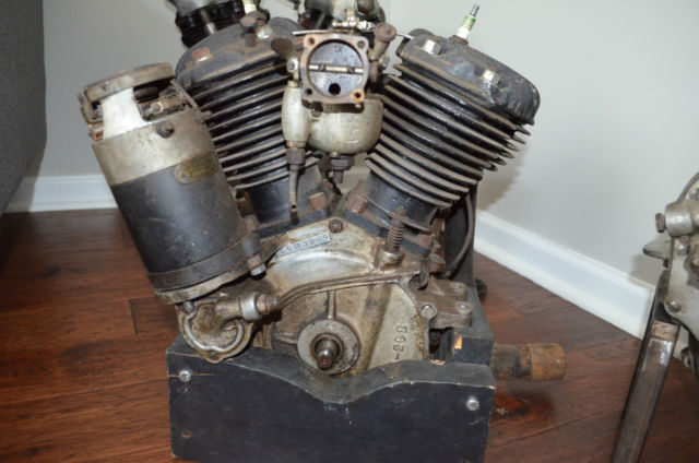 1929 antique harley d engine motor knucklehead panhead