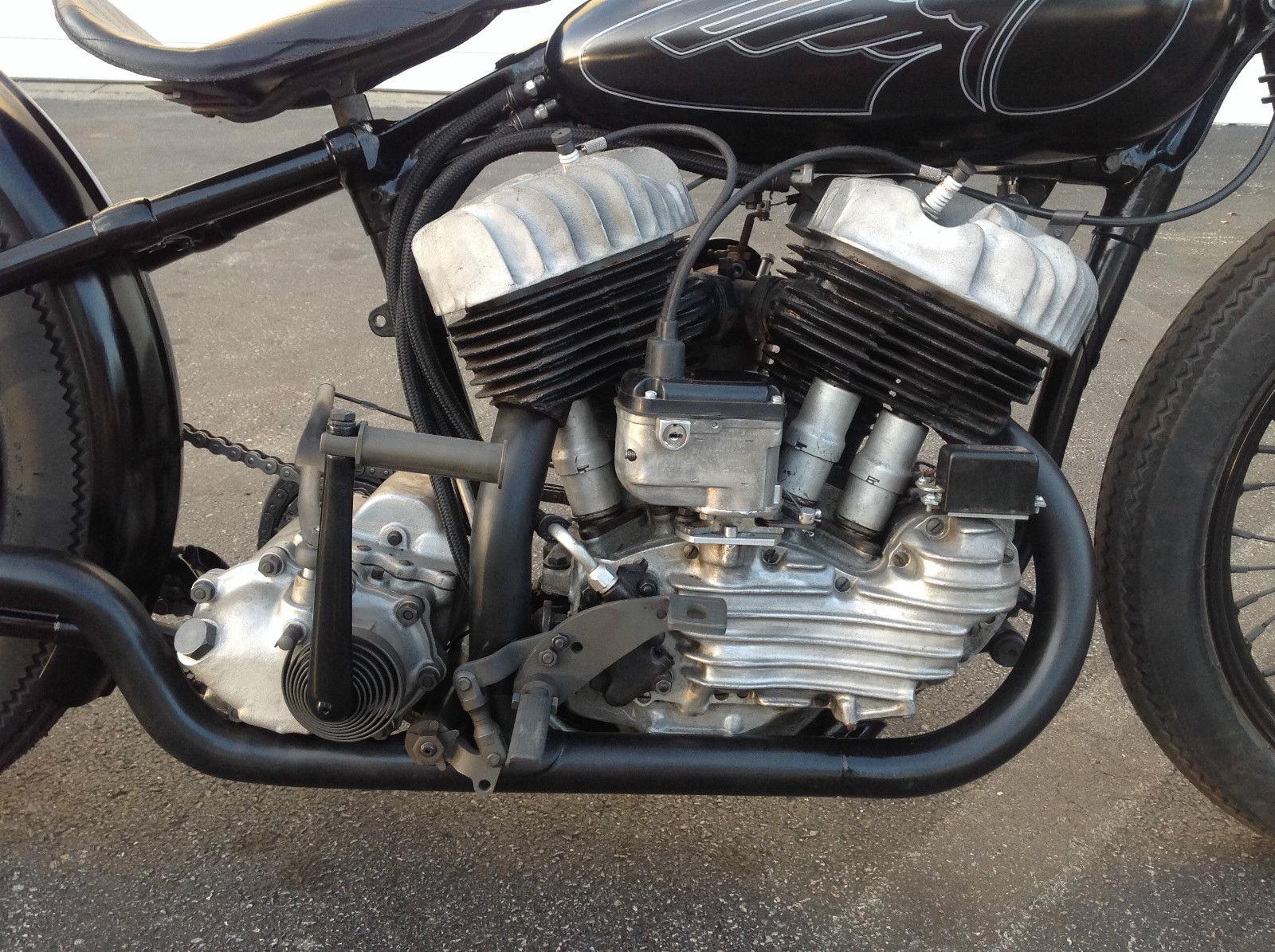 1940 Harley Davidson Flathead Rare UA Knucklehead VL Frame Bobber ...