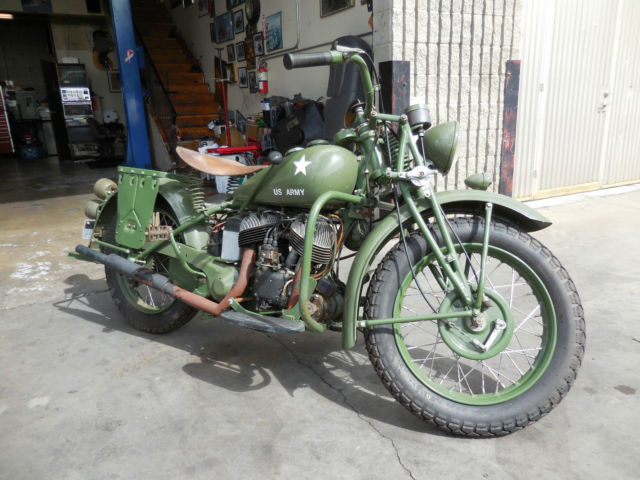 1940 Indian Motorcycle 741 Military