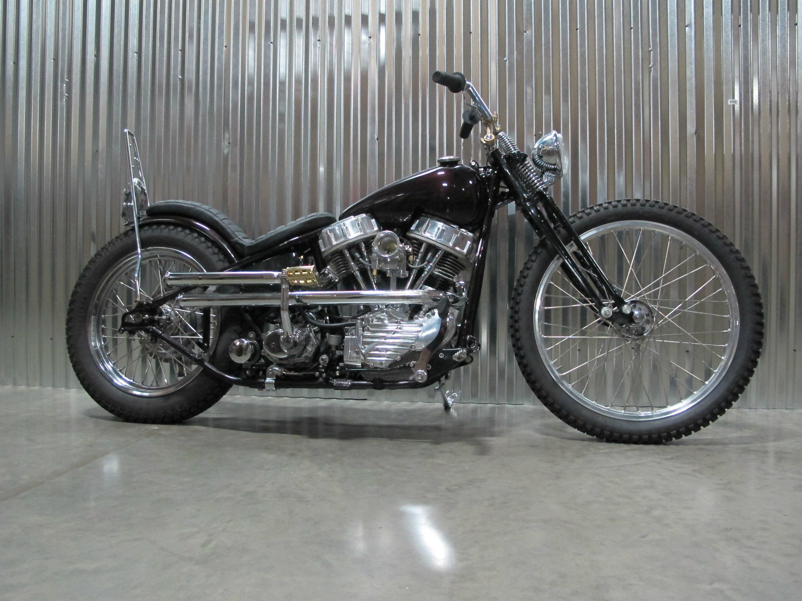 1948 PANHEAD CHOPPER WITH PAPER OEM FRAME, FORK, MOTOR knucklehead ...