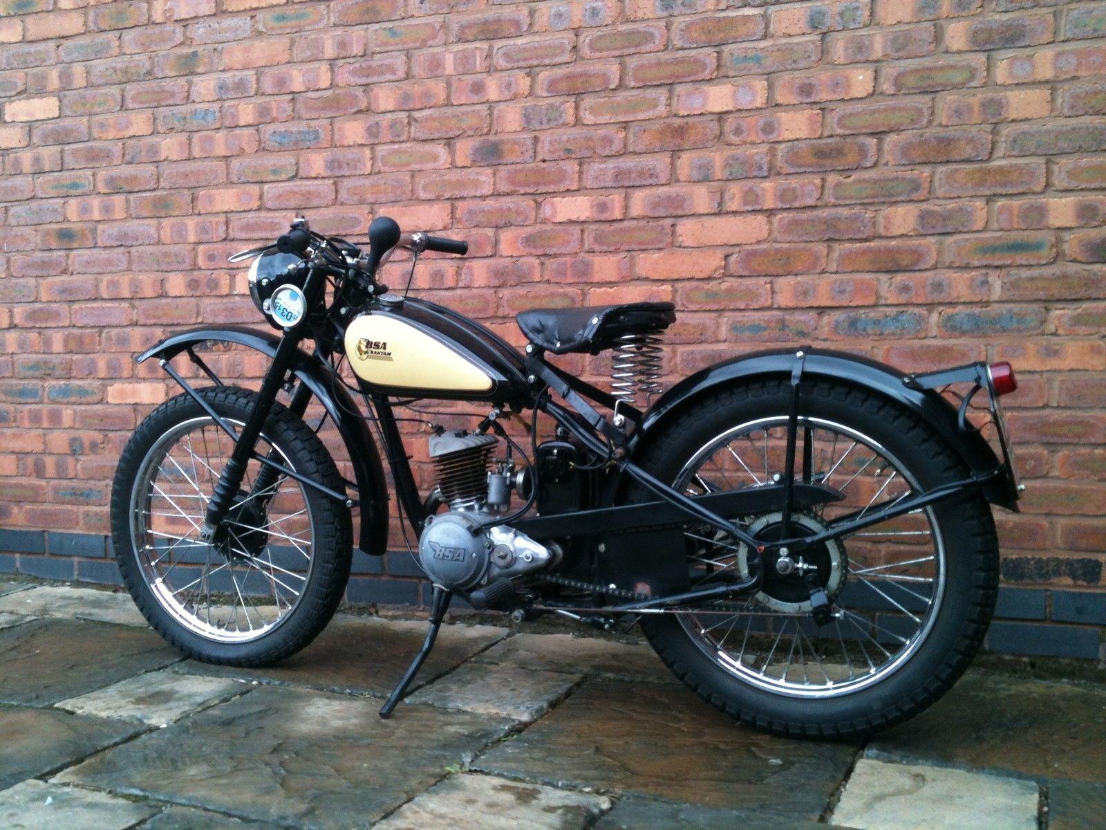 1951 bsa bantam d1 rigid 125cc in trials trim v5c taxed. Black Bedroom Furniture Sets. Home Design Ideas