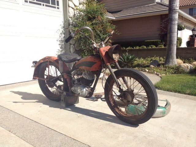 Harley Davidson Barn Find Tele Glide Hummer Antique With Extra Parts