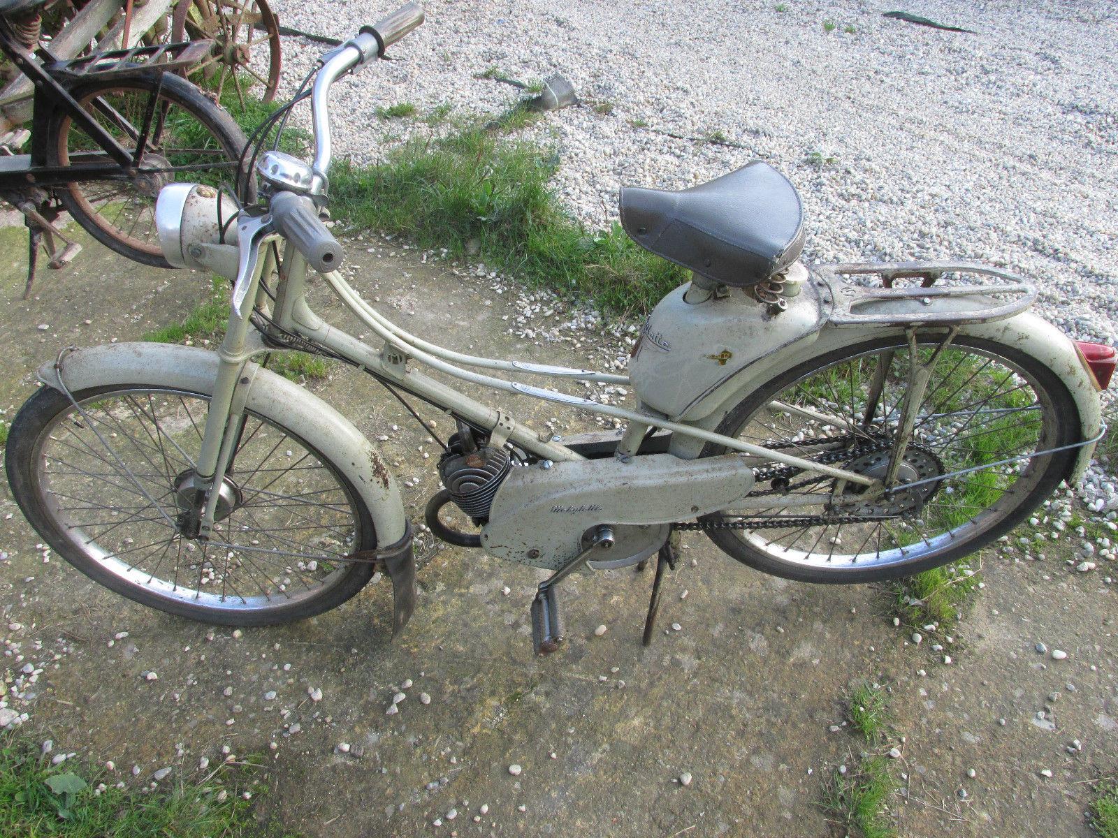 1956 mobylette motobecane av 51 motor caravan french moped classic. Black Bedroom Furniture Sets. Home Design Ideas