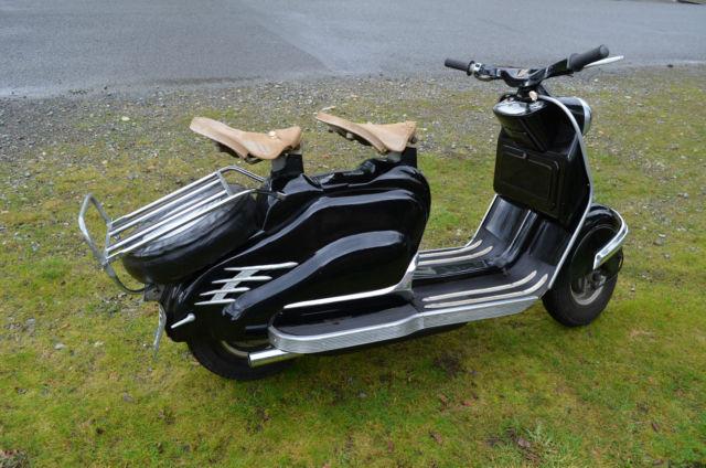 1956 nsu prima scooter classic vintage bike like vespa or lambretta german motor. Black Bedroom Furniture Sets. Home Design Ideas