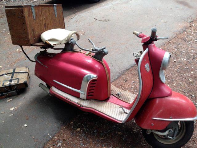 1960 nsu prima lambretta motor scooter nice estate rare find complete. Black Bedroom Furniture Sets. Home Design Ideas