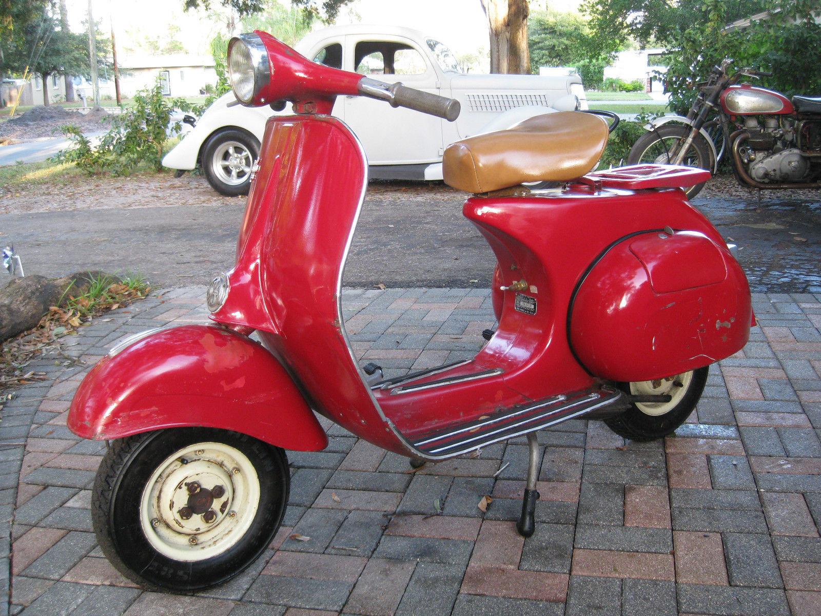 1963 allstate vespa 125 piaggio 125 scooter no reserve. Black Bedroom Furniture Sets. Home Design Ideas