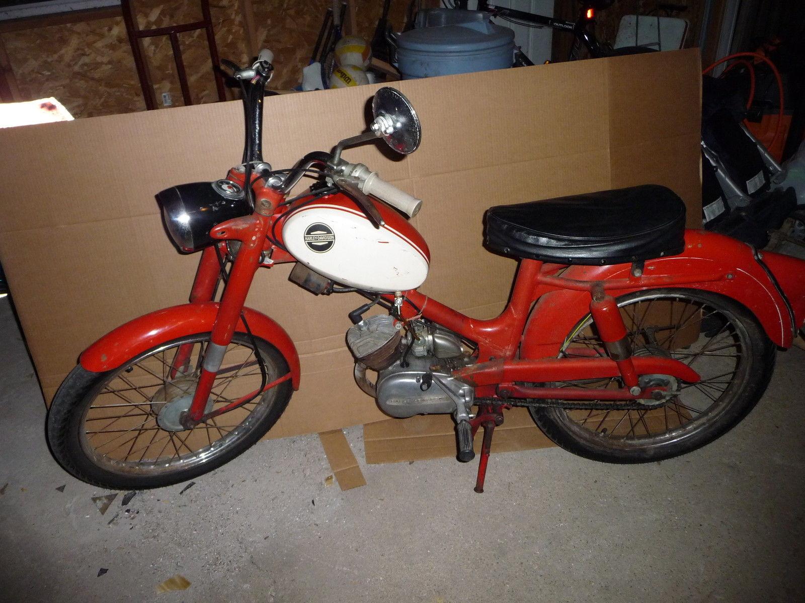 1965 Aermacchi Harley Davidson M50 Scooter 50CC Vintage Motorcycle