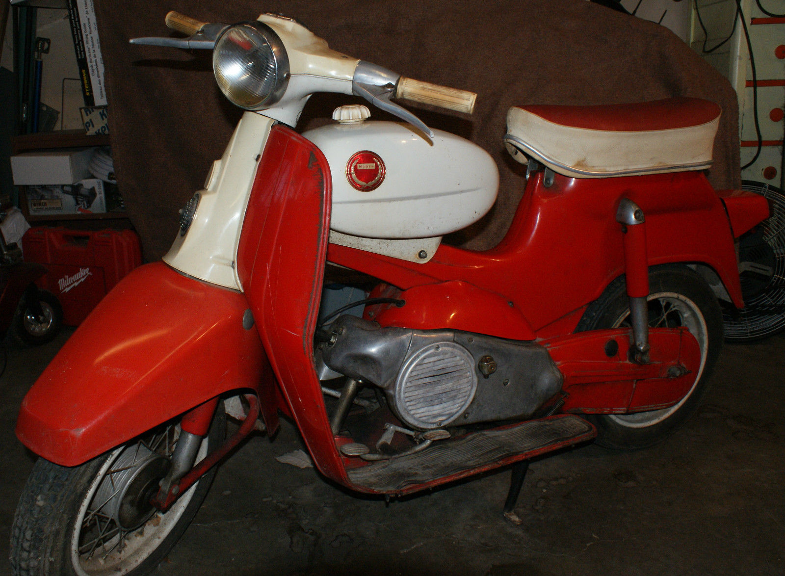 1966 sears allstate motor scooter built by steyr daimler puch just