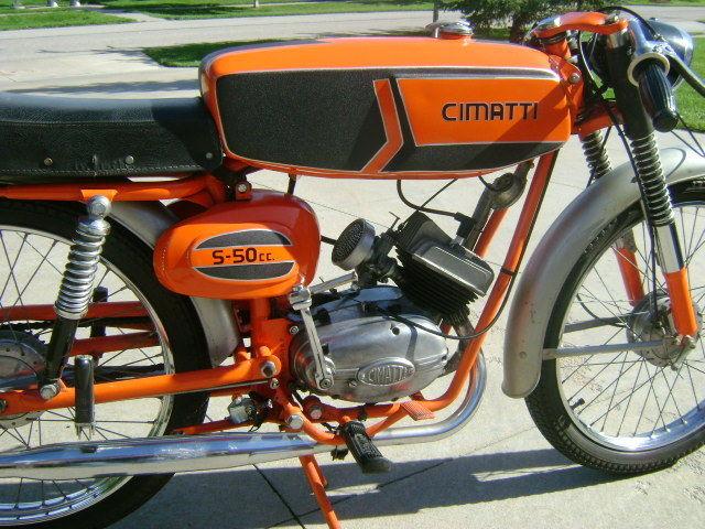 Cimatti Oasi 50 cc 1980 Moped Motorrad schwarz black 1:18 Atlas