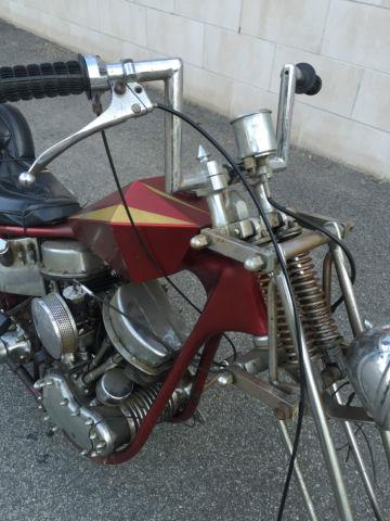 1967 Harley Panhead Shovelhead Chopper vintage Project dropseat frame mpd  8500bo