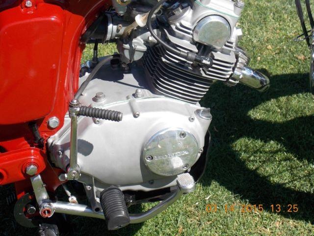 1968 Honda CL125a Scrambler motorcycle