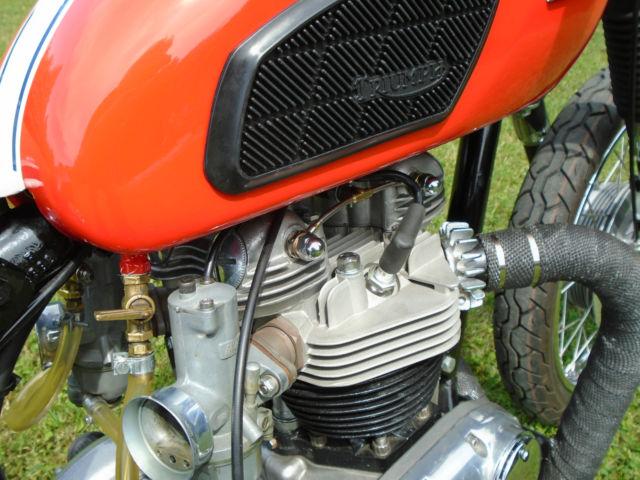 1968 Triumph 650 Bonneville Custom Hardtail Bobber Barhopper Rigid