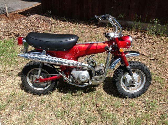honda ct  street legal mini bike dirt bike  road vintage trail bike