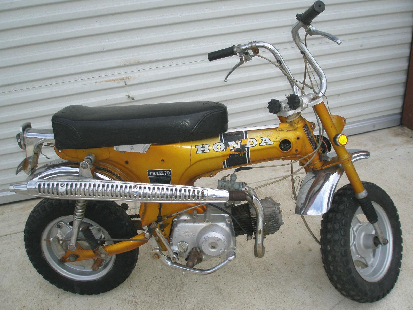 1969 Honda CT70 K0 Trail 70 Mfd 9 69 Candy Gold NICE Chrome
