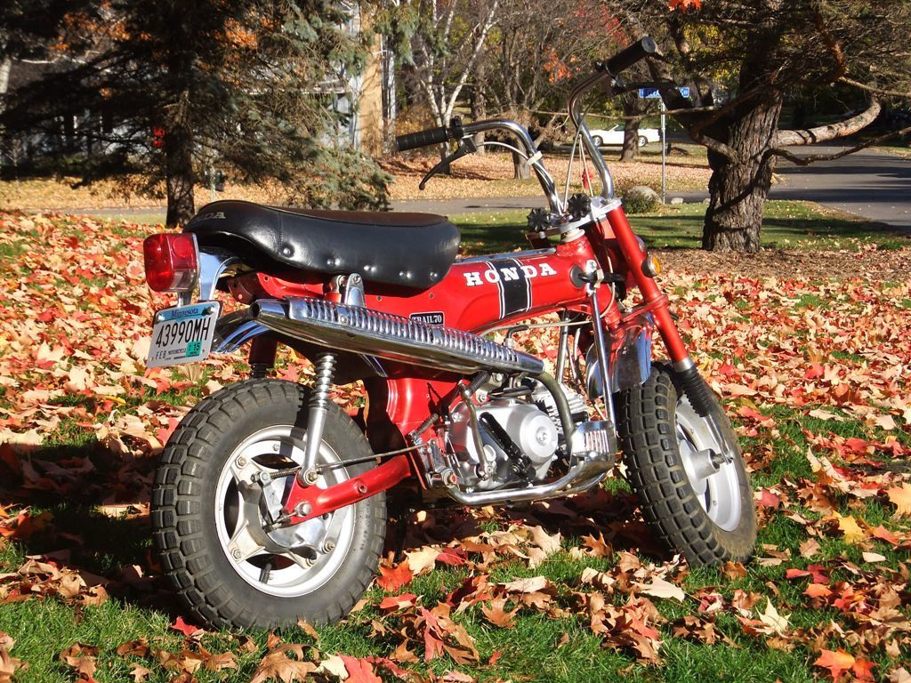 1969 Honda CT70 TRAIL 70 CT 70 RARE EARLY SILVER TAG RUBY RED LOW MILES!!