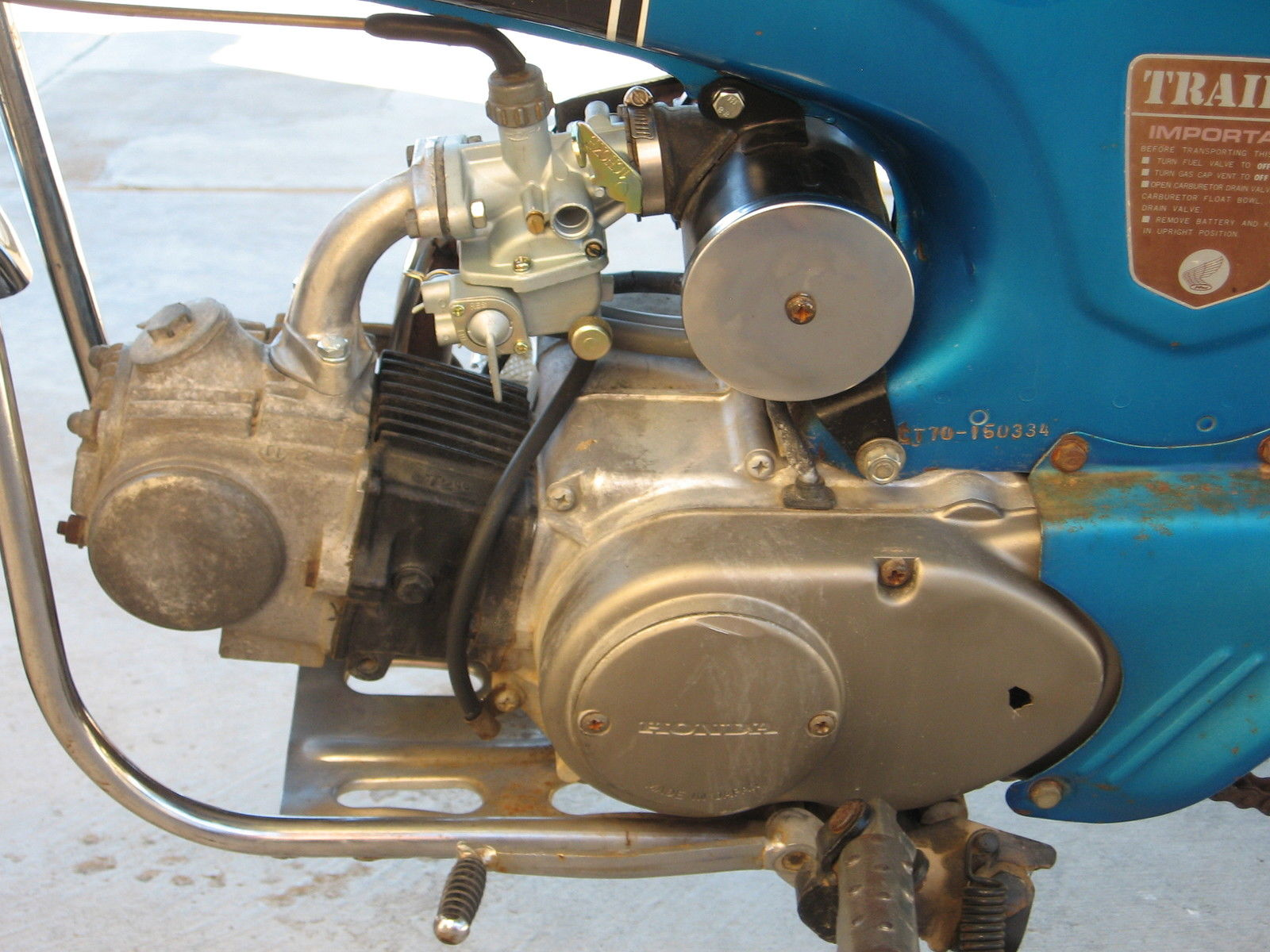 1970 Honda Mini Trail Ct 70 Ct70 Pit Bike Motorcycle Ko K0 Carburetor Price Us 100000
