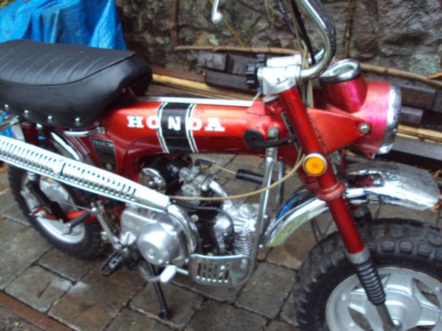 honda ct  mini trail  red vintage ct motorcycle