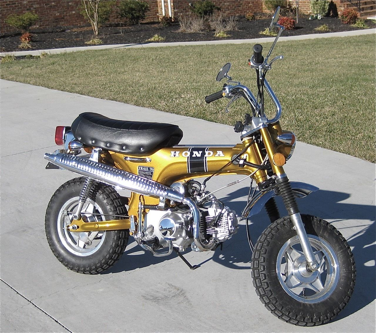 1971 Honda Ct70 Gold 4 Speed Manual With Clear Title 110 Engine 1970 Battery Upgrade Fast