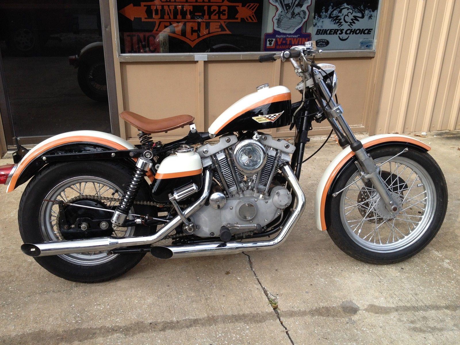 Ironhead Sportster Custom Vintage Paint King Tank Fresh Engine Kick And Ele on 1974 Harley Davidson Sportster
