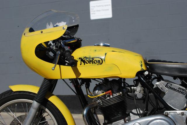 1972 Norton Commando 850 Engine Size Cafe Fairing Yellow Ace