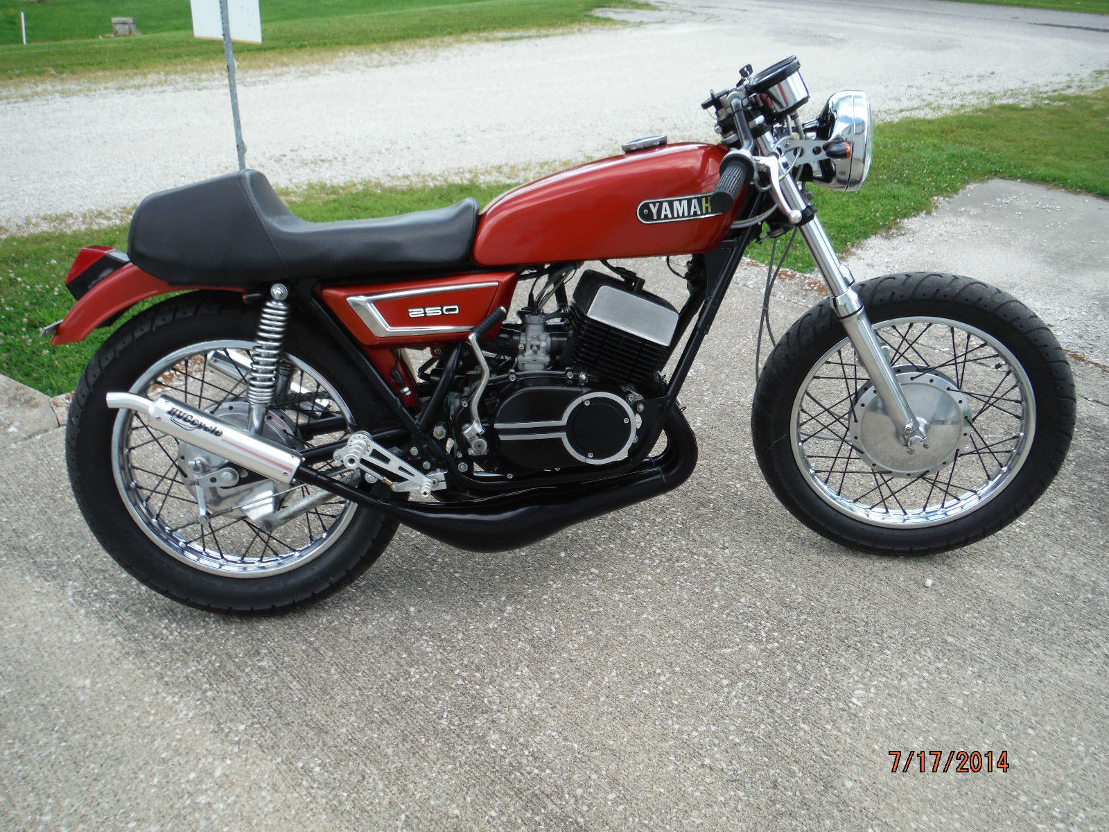 1972 yamaha ds7 250cc rd vintage cafe racer two stroke. Black Bedroom Furniture Sets. Home Design Ideas