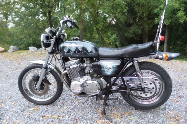 1973 Honda Cb750 Cb 750 Four Motorcycle Vintage Old School Chopper