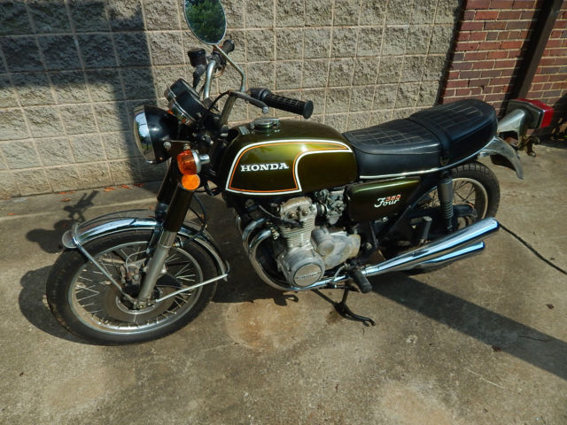 1973 ORIGINAL PAINT PIPES HONDA CB350F CB350 FOUR PROJECT CAFE RACER 4 CYLINDER
