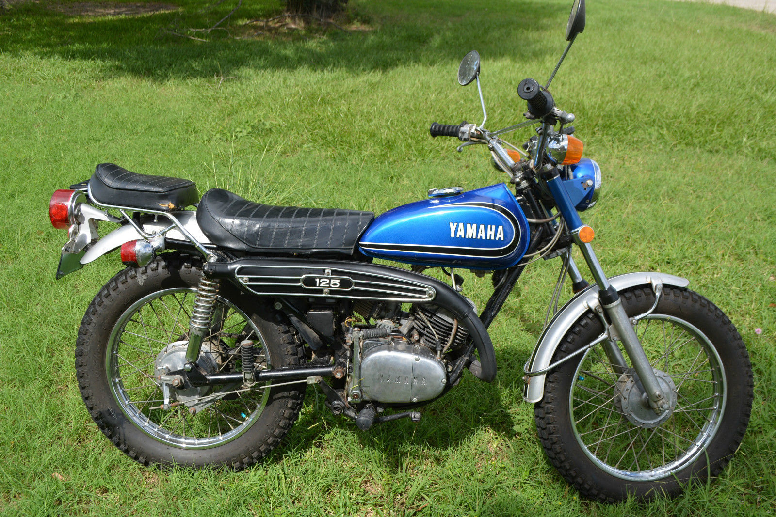 1973 yamaha 125 enduro vintage no reserve. Black Bedroom Furniture Sets. Home Design Ideas