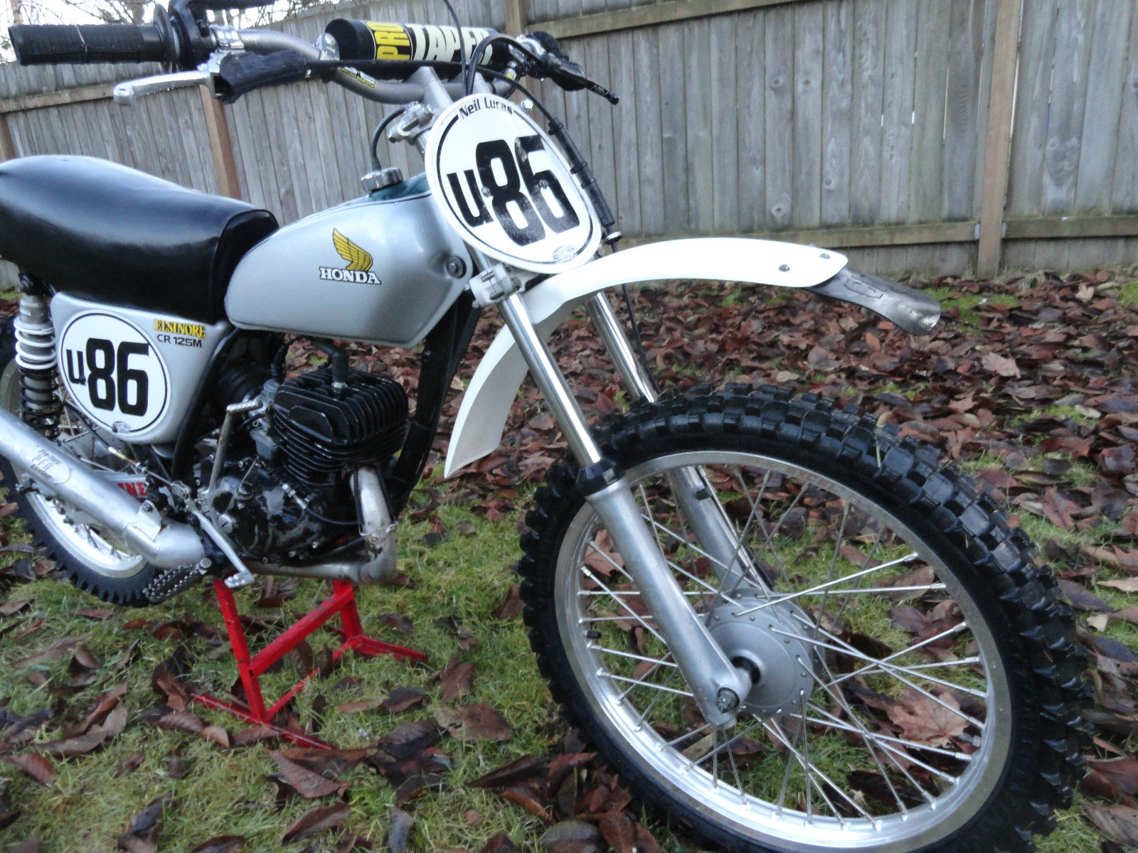 1974 HONDA CR125M ELSINORE PHOTO VINTAGE AHRMA