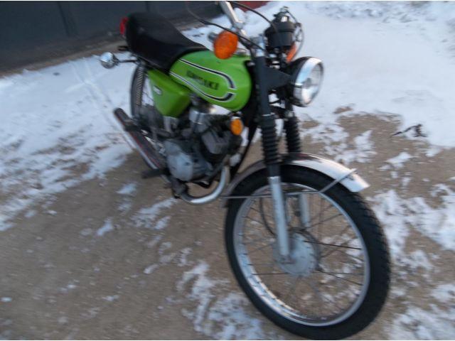 1974 Kawasaki 90 Street Bike-Motorcycle