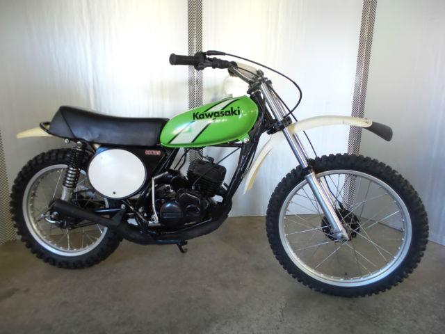 1974 kawasaki kx125 kx 125 ahrma mx dirt bike vintage. Black Bedroom Furniture Sets. Home Design Ideas