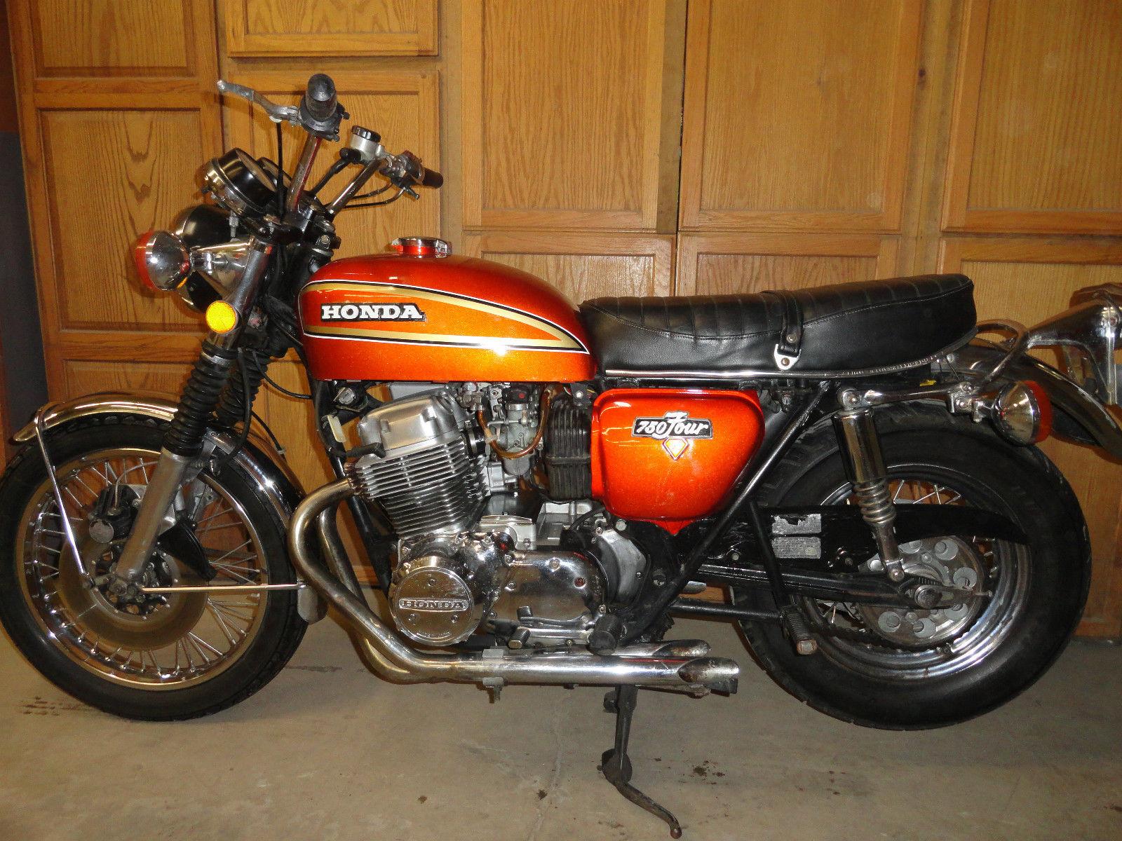 1975 honda cb750 sunburst orange low miles publicscrutiny Choice Image