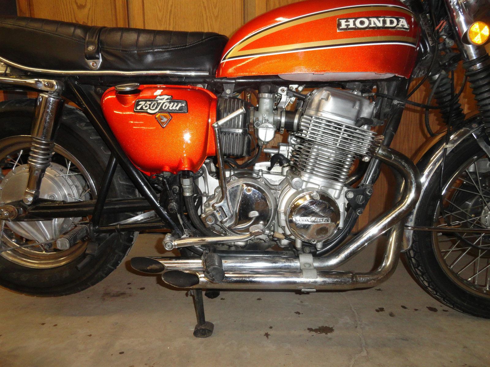 1975 honda cb750 sunburst orange low miles 1975 honda cb publicscrutiny Choice Image