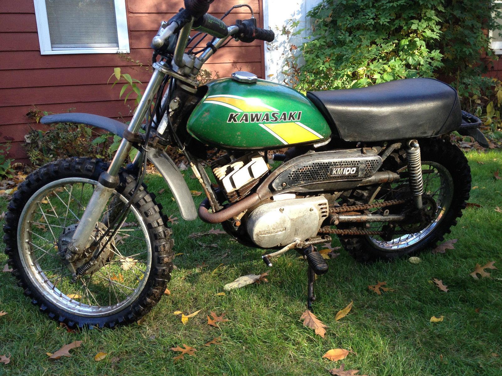 1975 Kawasaki Km100 Motorcycle Mini Bike Dirt Bike