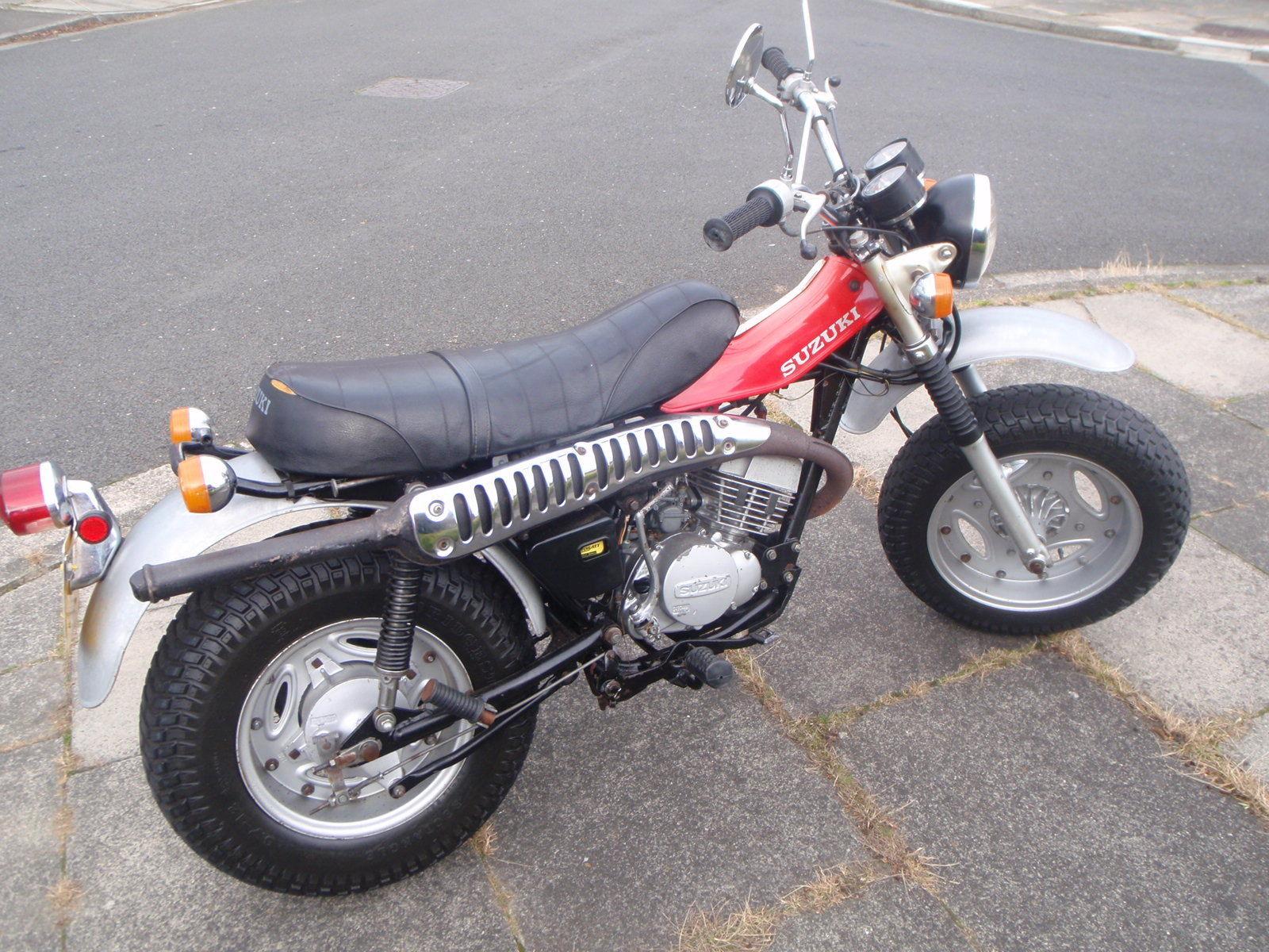 1975 suzuki rv 125 sand bike monkey bike barn find genuine. Black Bedroom Furniture Sets. Home Design Ideas