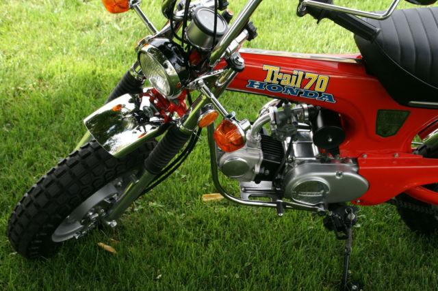 Honda Ct Original Museum Show Mini Trail Bike Motorcycle Z Exact Paint on Honda Trail 70 Restoration
