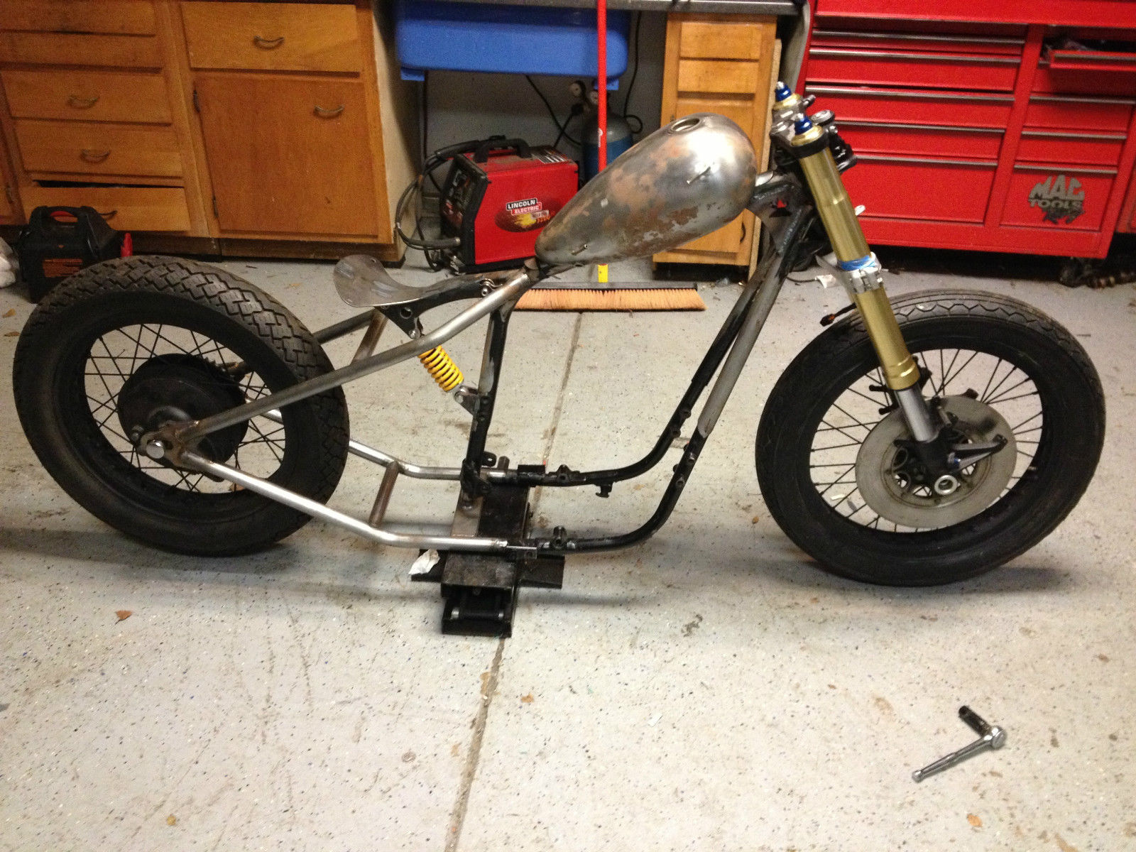 1976 Yamaha XS650 Chopper with Gsxr front end conversion