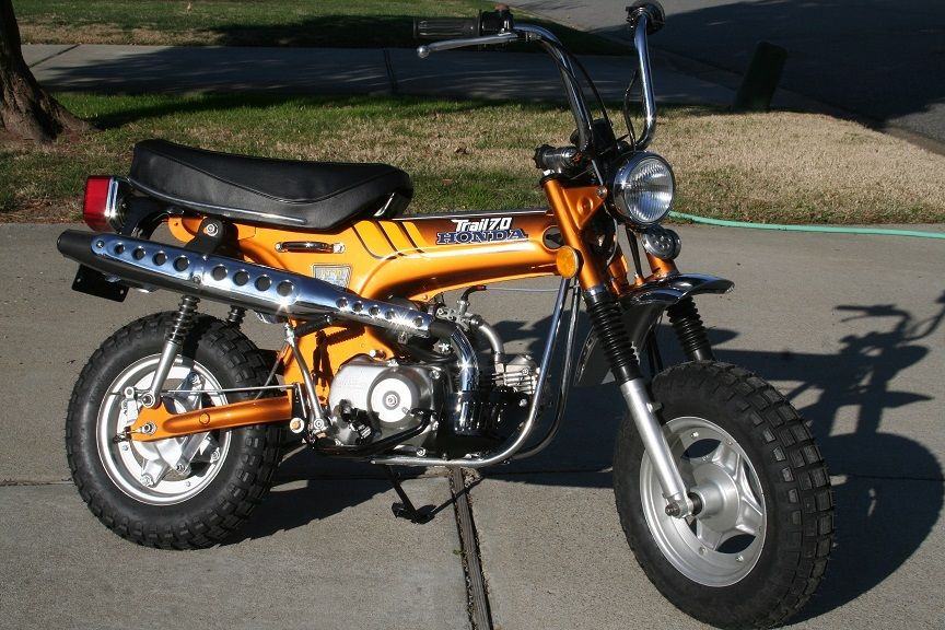1977 honda ct70 shiny orange for Honda in ct
