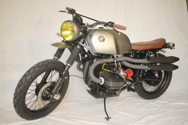 1978 BMW Airhead R100 7T Custom Scrambler Restoration Build Vintage Cafe Racer
