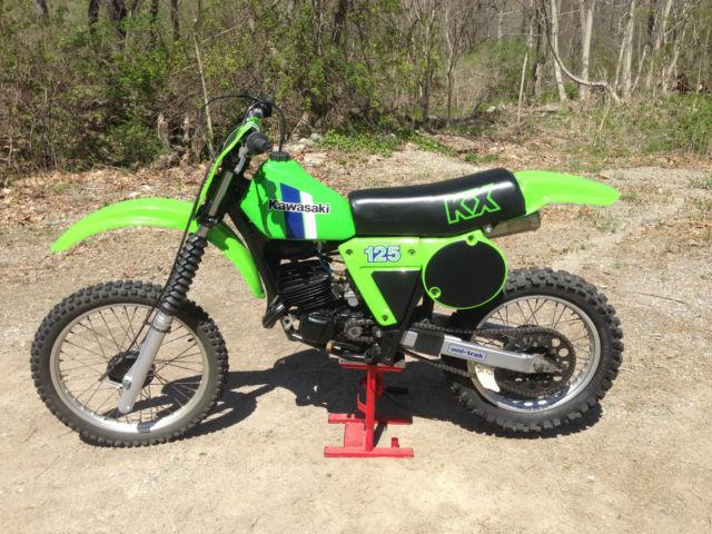 1981 Kawasaki Kx125 Vintage Motocross Dirt Bike Nicely Restored
