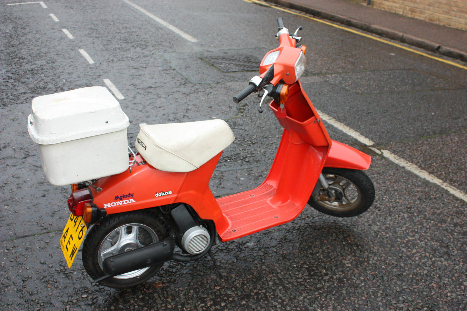1984 honda ns50msb red melody deluxe classic retro vintage moped scooter. Black Bedroom Furniture Sets. Home Design Ideas
