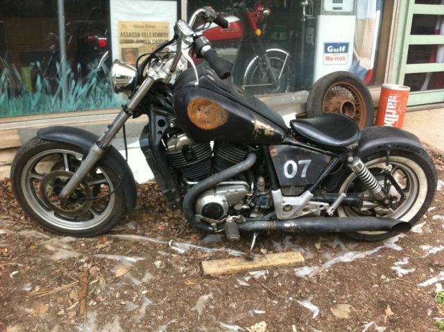 1985 honda shadow vt1100 v twin bobber rat bike chopper publicscrutiny Images