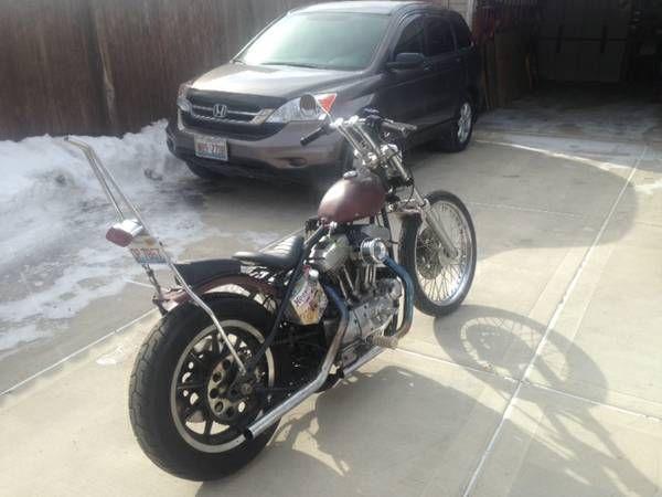 1987 Harley Davidson Sportster, Paughco Rigid Frame, stock frame included