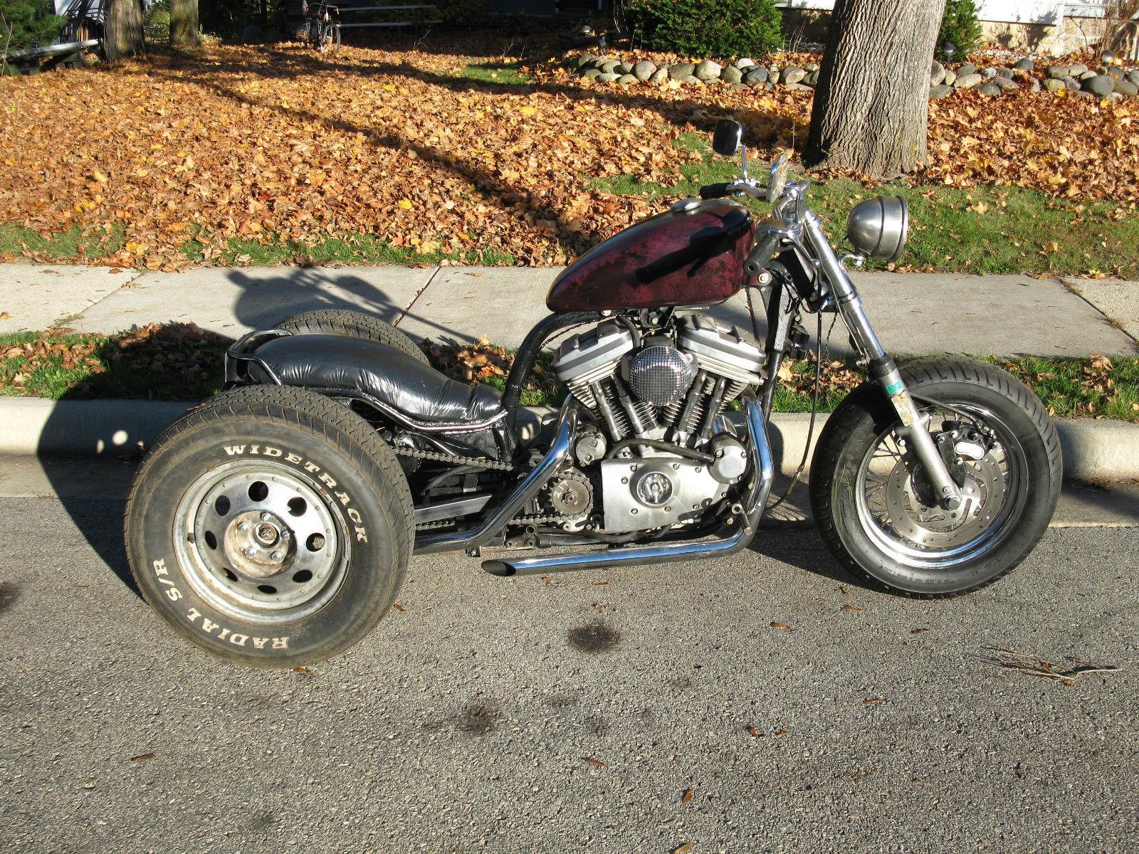 1990 Harley Davidson Sportster Trike Chopper Custom Rat Bike 1200cc 4 Speed