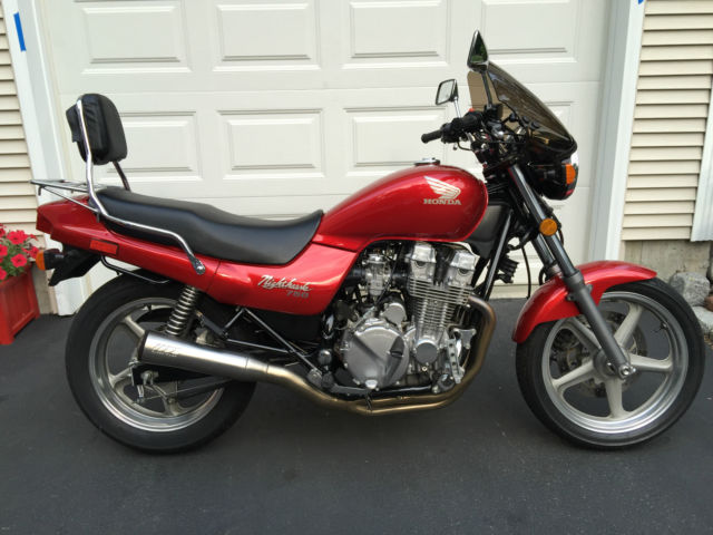 1991 Honda CB750 Nighthawk - Red - 24,950 miles in excellent condition