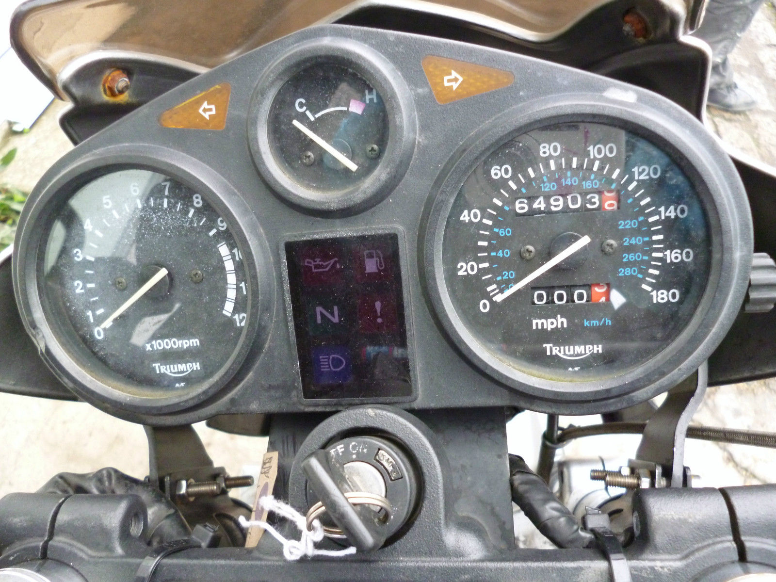 1991 Triumph Trophy 1200 Grey Streetfighter 64903miles